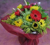 bouquet de fleurs rond