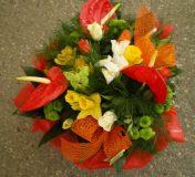 Bouquet de fleur rond